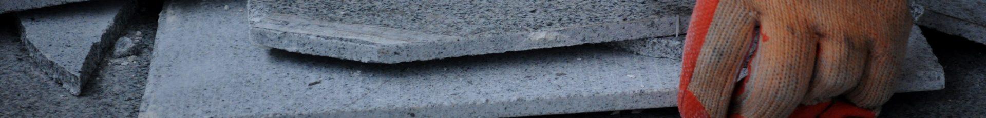 plavuizen verwijderen gelijmd en in cement gelegd