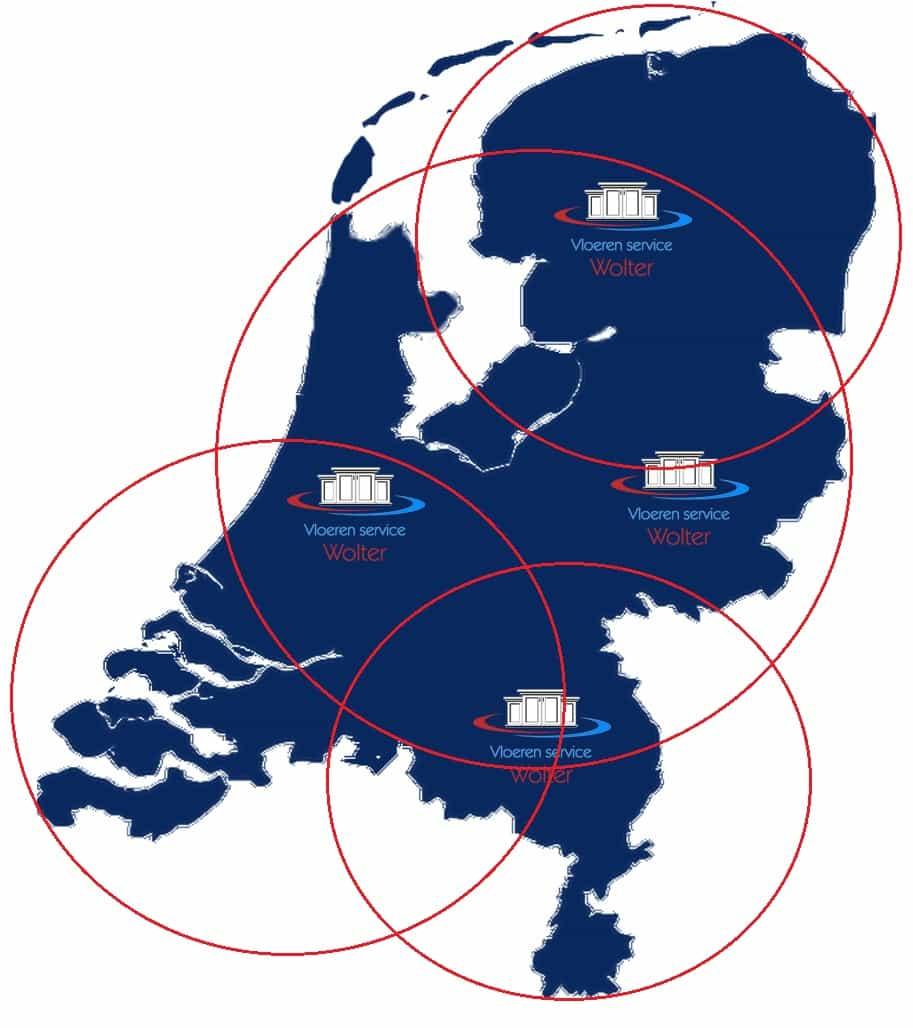 werkgebied in heel nederland